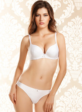0faa0165c8 6178 seamless pure white with bow sexy push up bra women s underwear Bra   Brief  Sets BC cup size 34B 34C 36B 36C 38C 38B
