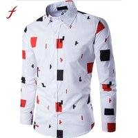 מותג חדש Mens חולצות עסקיות רשמיות מקרית Slim שרוול ארוך חולצות מזדמנים Masculina Camisa חולצות Dresse גודל אסיה M-3XL