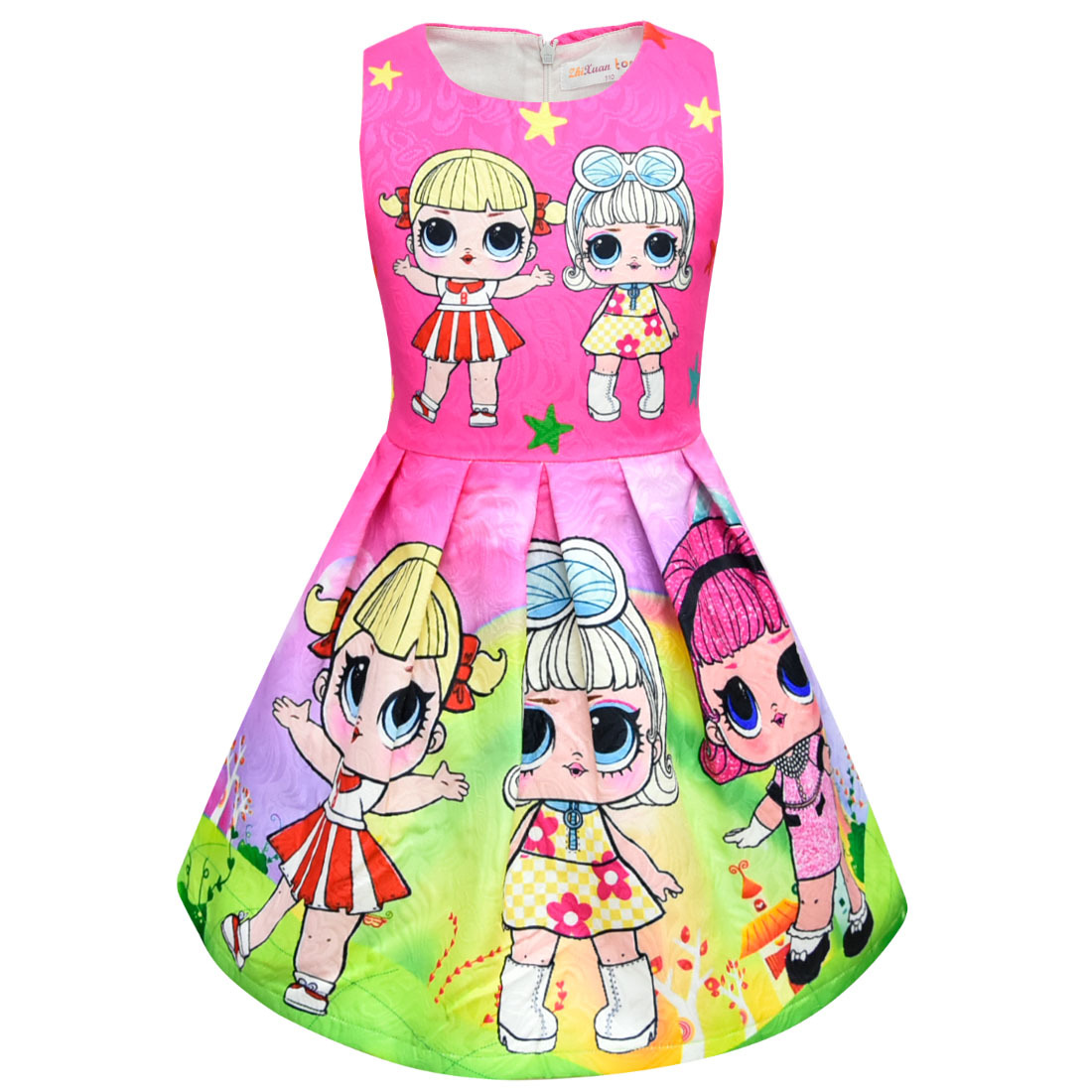 cbfd3b953 Lol Dolls Baby Dresses 2018 Summer Cute Elegant Dress Kids Party ...