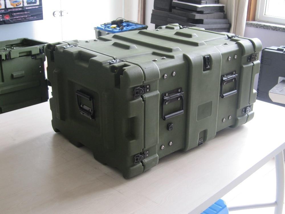 China Hard Plastic 6U Mount Case For Mobile Computer Servicer Rack Case