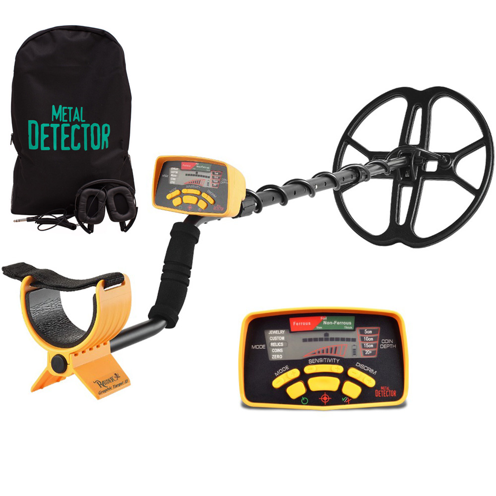 Professional Underground Metal Detector MD6350 Advance 12 inch Super Coil Gold Digger Treasure Hunter Pinpointer Stud