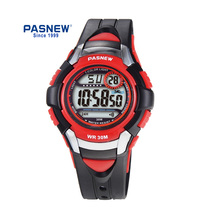 лучшая цена PASNEW 7 Color light children digital watch Outdoor Sport wrist watch for kids PSE-481