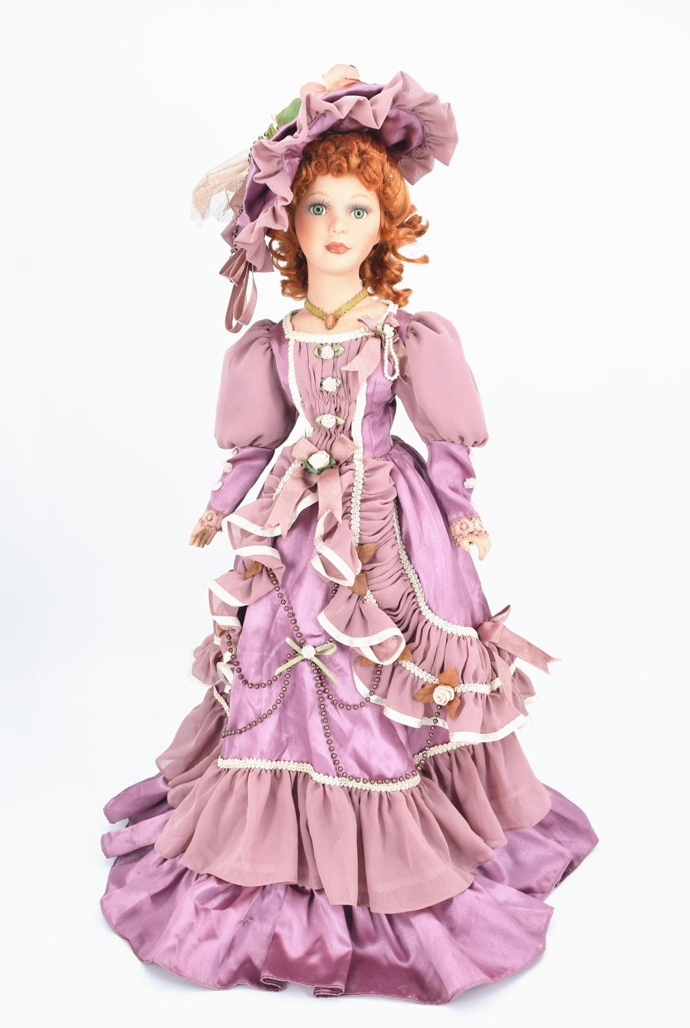 60cm Vintage Victoria Porcelain Doll Lifelike Style Collection Ceramics Doll Birthday Christmas Gift Artistic Home Decoration