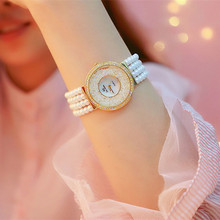 Relogio Feminino Top Brand Pearl Strap Casual Woman Watches Fashion ladies Watch Women Rhinestone Quartz watches Women Bracelet