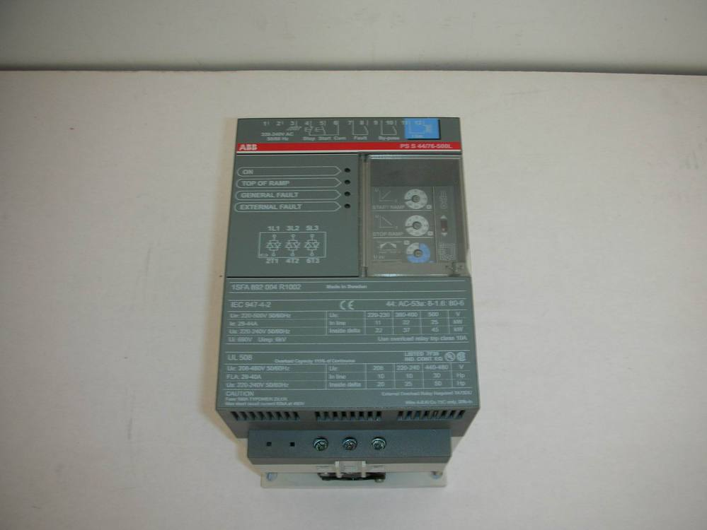 1PC USED ABB soft start PSS44/76-500L 1pc used fatek pm fbs 14mc plc