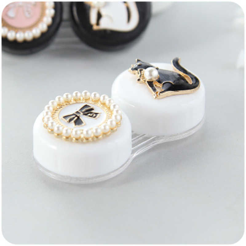 Contact Lens Case Cut Animal Gles With Mirror Eyes