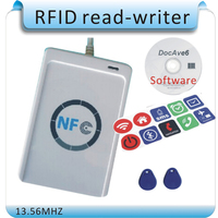 Free Shipping Access Control ACR122U 13 56MHZ NFC Tags RFID Copier IC Card Reader Writer 1