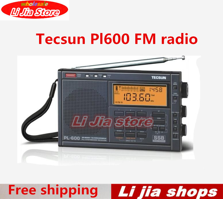 Freeshipping TECSUN PL-600 Full Band FM MW SW SSB PLL SYNTHESIZED Stereo Portable Digital Radio Receiver PL600 old version degen de1103 1 0 ssb pll fm stereo sw mw lw dual conversion digital world band radio receiver de 1103 free shipping