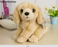 high quality goods about 18cm cute Golden Retriever dog plush toy soft doll baby toy birthday gift s0327
