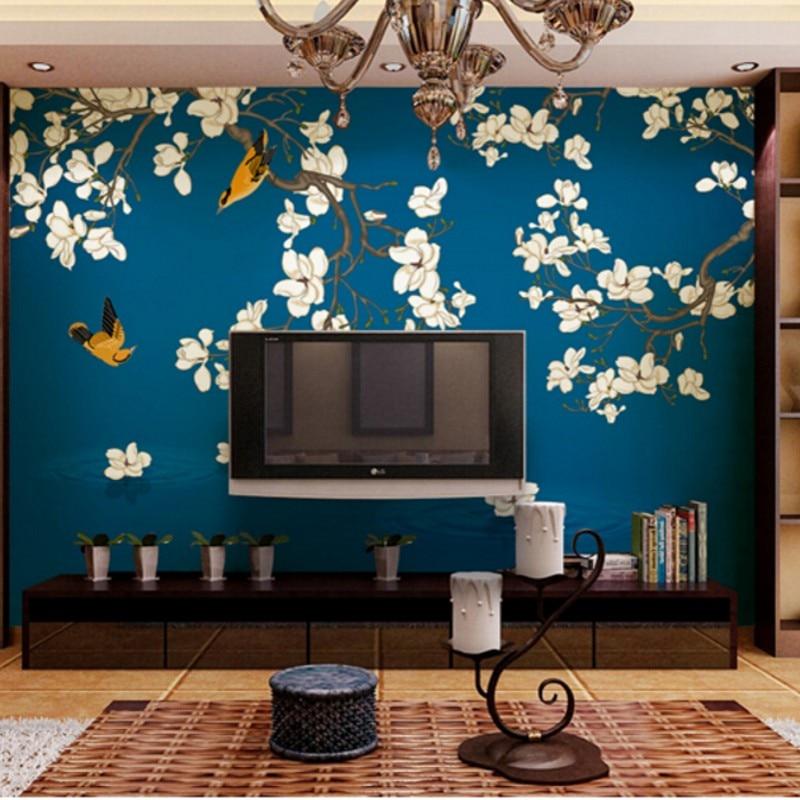 Orchidee bloem behang promotie winkel voor promoties orchidee bloem behang op for Schilderen moderne volwassen kamer