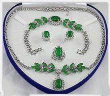 065a4df910ab Precio al por mayor 16new   encanto joyería piedra verde collar pendiente  anillo (sin caja)