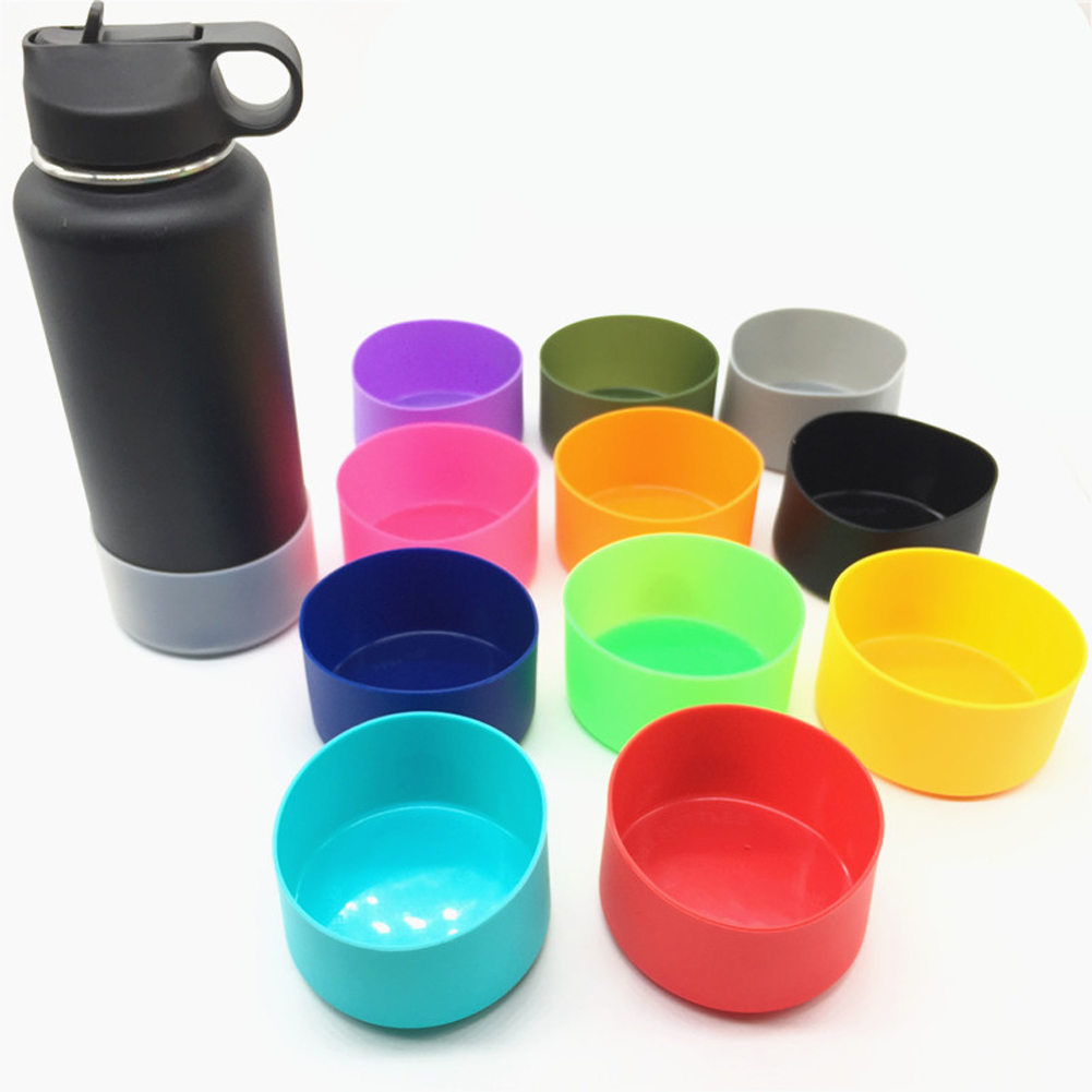 Practical For Water Bottles Accessories Sport Skid Resistance Home Use Cup Bottom Cover Anti Slip Sleeve Coasters Silicone Boot