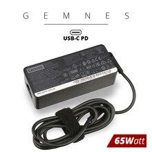 Original 65W ประเภท USB C อะแดปเตอร์แล็ปท็อปสำหรับ Lenovo ThinkPad T480 T480s T580 X280 X380 E580 L380 L480 20V 3.25A