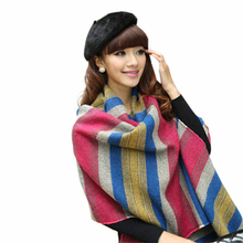 New Design 2015 Fashion Women's Large Tartan Scarf Shawl Stole Plaid Tassels Knitting Scarf free shipping!