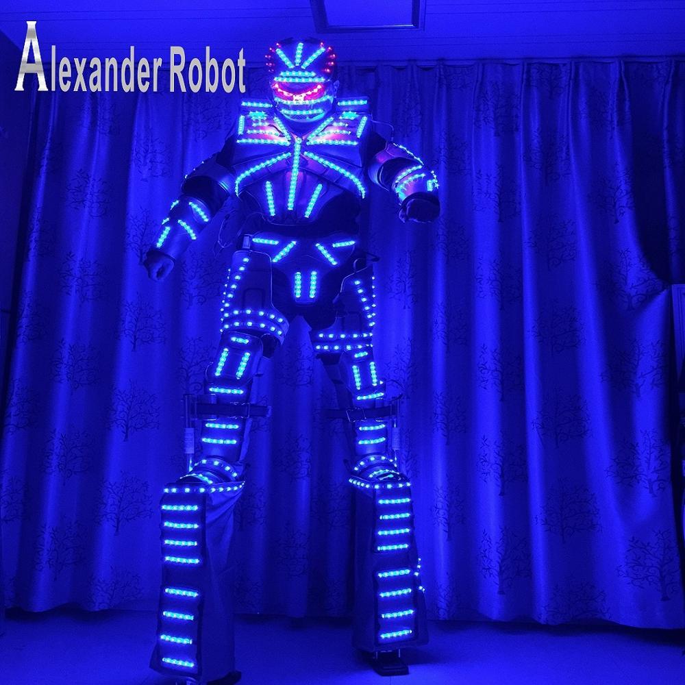 زي LED / ملابس LED / بدلات خفيفة / بدلات Robot LED / أزياء مضيئة / التكلفة تشمل stilts568