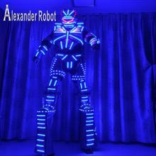 LED Costume /LED Clothing/Light suits/ LED Robot suits/ Luminous costume/ The cost includes stilts568