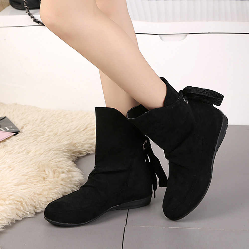 SAGACE Classic Vrouwen Winter Laarzen Vrouwen Schoenen Gesp modis Romeinse Korte Laarzen Martin Laarzen zapatos de mujer O 35