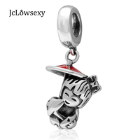 Jclowsexy Authentieke 925 Sterling Meisje Poppen Rood Emaille Bead Charms Fit Originele Pandora Armbanden DIY Ketting Sieraden