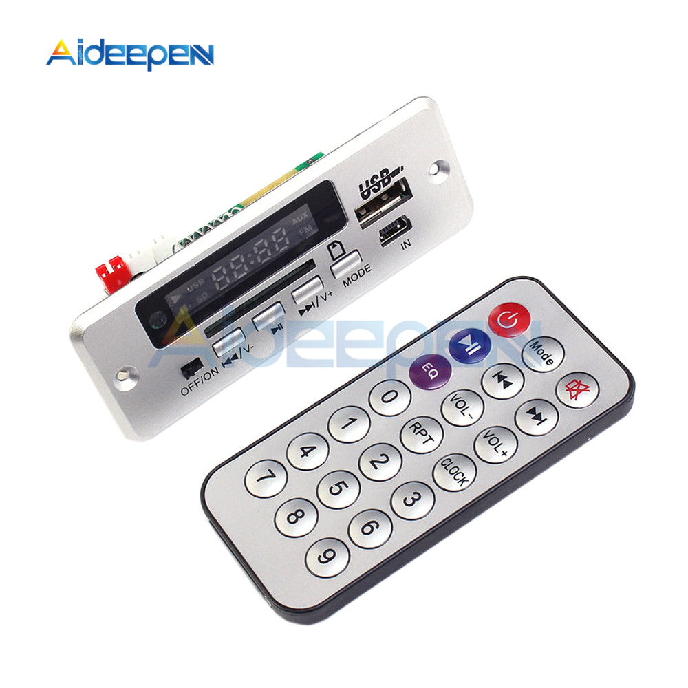 Mini 5V MP3 Decoder Board Bluetooth Call Decoding Module MP3 WAV U-Disk & TF Card USB With 2*3W Amplifier Remote Controller tf card u disk mp3 format decoder board module amplifier decoding audio player