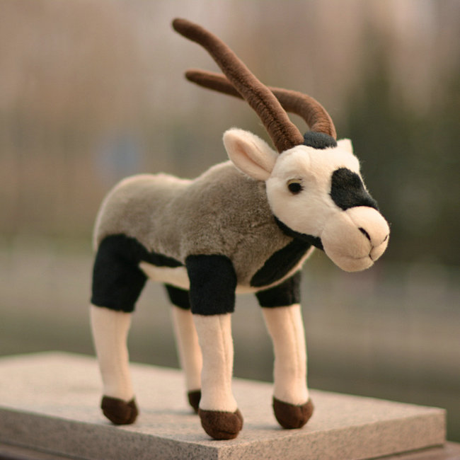 Simulation Tibetan Antelope Doll Plush Animals Toy Standing Dolls Toys Gifts Children Limbs can be bent Rare