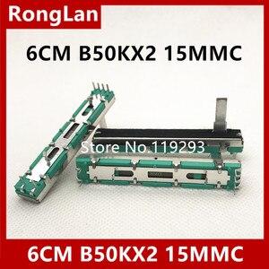 [BELLA] 6 см 60 мм двойной B50K B50KX2 оригинальный DJM 400 500 600 800 миксер фейдер потенциометр объем 15 мм вал -- 10 шт./лот
