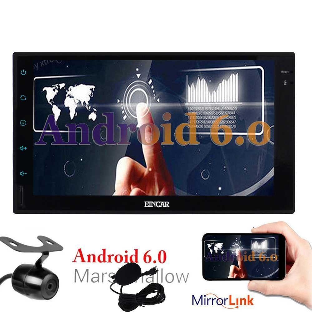 Caméra inversée gratuite en cadeau! Android 6.0 dans le tableau de bord écran tactile Navigation voiture stéréo 2 Din unité de tête soutien/1080 p/Wifi/3G/4G/Mic