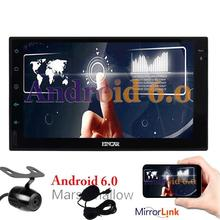 Free Reverse Camera as Gift! Android 6.0 in Dash Touch Screen Navigation Car Stereo 2 Din Head Unit support/1080p/Wifi/3G/4G/Mic