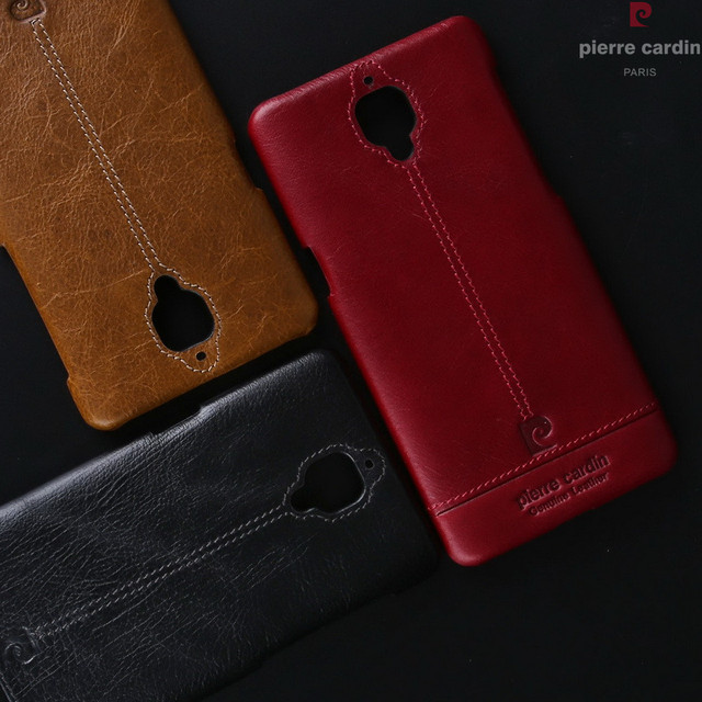 save off 0ddc0 62db1 US $22.16  Pierre Cardin For Oneplus 3/3T Luxury Original Genuine Leather  Back Case For OnePlus 3T Capa Fundas Ultra Thin Cover Case Coque-in Fitted  ...