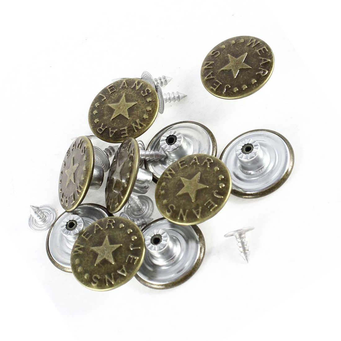 10 個スタープリントデニムジャケットジーンズ金属タックボタンブロンズトーン金属縫製スクラップブックジャケットブレザーセーター
