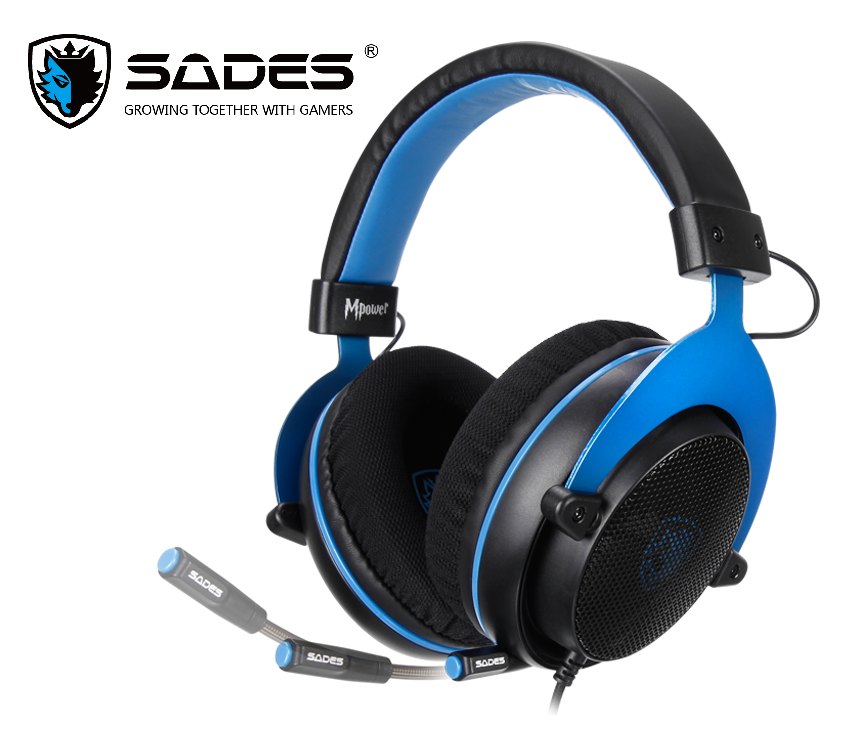 SADES Mpower Gaming Headset Headphones For PC/Laptop/PS4/Xbox One(2015 version)/Mobile Devices/VR/Nintendo Switch image