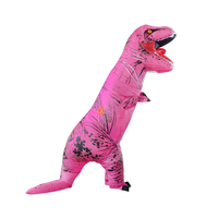 Pink T Rex Cosplay Costume Dinosaur Jumpsuit Christmas mascot Party Dress Halloween Inflatable costumes for Adult
