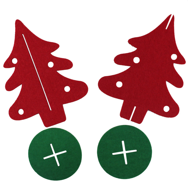 Christmas non-woven three-dimensional decoration ornaments pendant hotel shopping center decoration red green Christmas tree