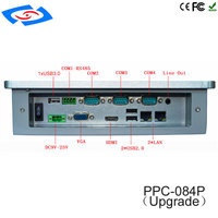 8,4 zoll Embedded Fanless Industrie 4-Draht China Resistive Alle In Einem PC Für Fabrik Automation PPC-084P Upgrade