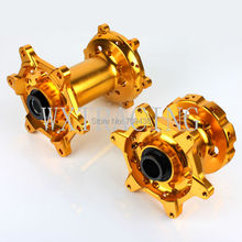 "17"" Front and Rear Wheel Rim Hub Supermoto For KTM SX SXF 125 250 2003 2004 2005 2006 2007 2008 2009 2010 2011 Gold"