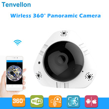 960P WIFI IP Camera 360 Degree Panoramic IP Camera 1.3MP FIsheye Lens Wireless Smart CCTV Camera TF Card IR Baby Monitor Remote(China)