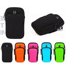 Universal outdoor waterproof headphone hole wrist arm bag Gym Sport Armband for Accessories Running for iPhone6 7 XS huawei 6 цена