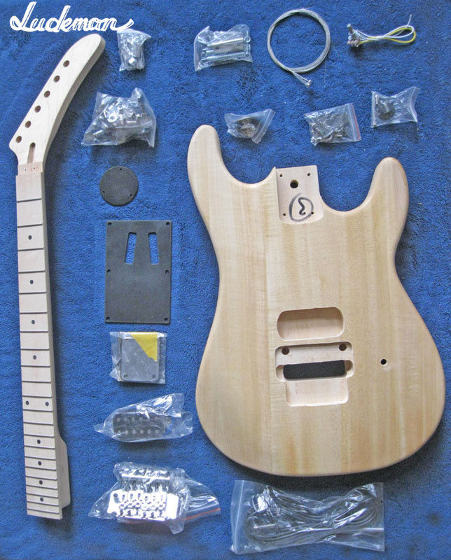 Unfinished Guitar Neck and body Electric guitar kits with all hardware guita electric guitar gwarem st guitar zebrawood body and neck with gold hardwareguitar in china