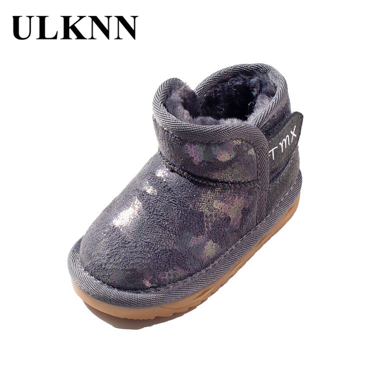 ULKNN Toddle Baby Girls Velvet Boots Soft Warm Plush Shoes ...