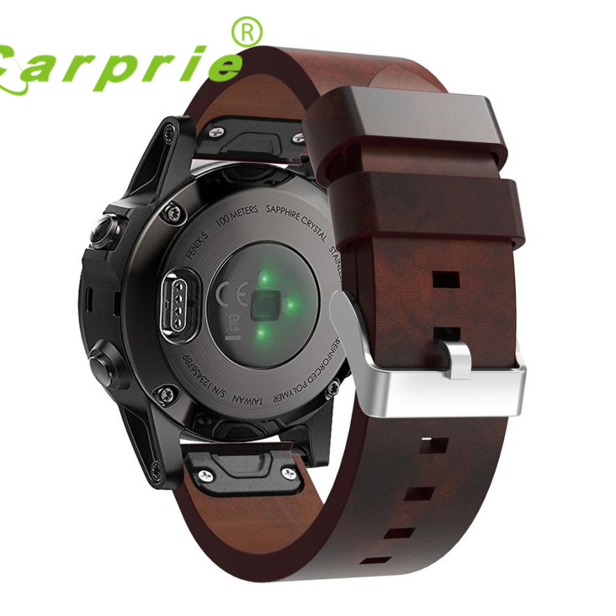Carprie New Luxury Leather Strap Replacement Watch Band With Tools For Garmin Fenix 5 GPS Dropshipping 17Jun24 luxury leather strap replacement watch band with tools for garmin fenix 3 100% brand new free shipping sep14