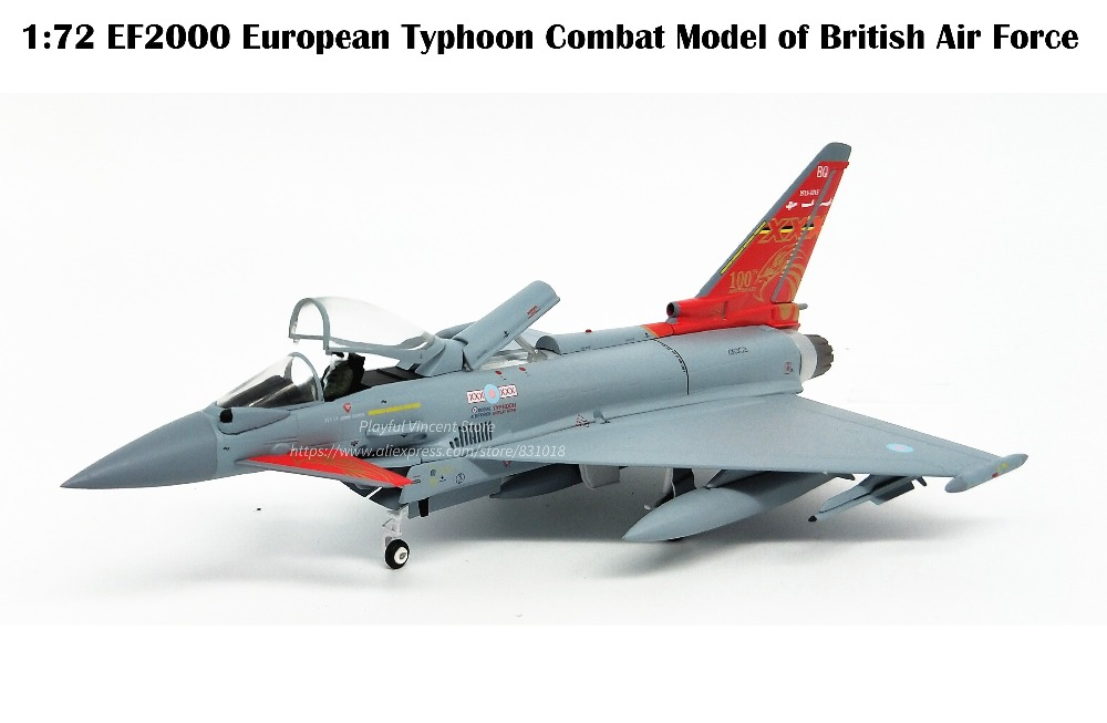 Boutique  1:72  EF2000 European Typhoon Combat Model of British Air Force  Alloy Collection ModelBoutique  1:72  EF2000 European Typhoon Combat Model of British Air Force  Alloy Collection Model