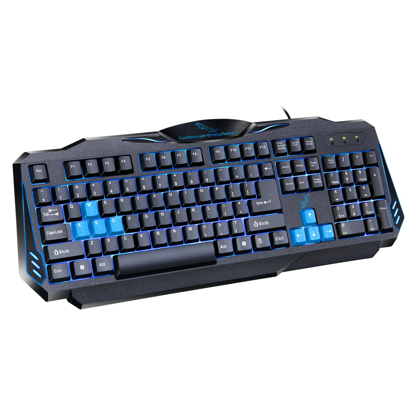 Original Brand New G16 Blue LED Backlight light Game Gaming Keyboard USB Wired For Computer PC <font><b>Notebook</b></font>