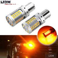 IJDM 4 Uds. Canbus sin errores BAU15S LED sin Hyper Flash ámbar 48-SMD 3030 LED 7507 PY21W bombillas LED para luces de señal de giro