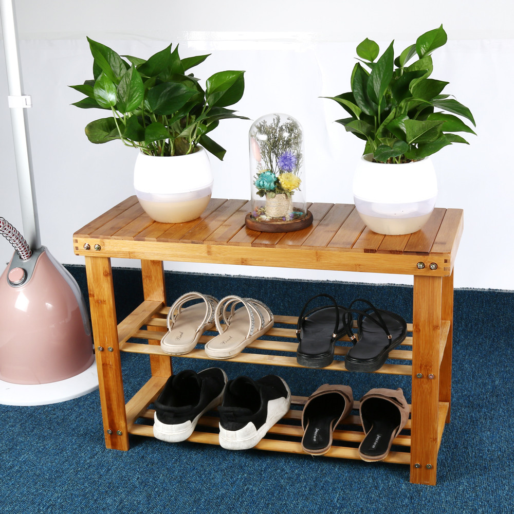 Miraculous Us 24 6 22 Off Natural Bamboo Stool Shoe Cabinet Entryway Shoe Rack Garden Foot Stool Storage Shelf Bench Stool Simple Style Hallway Furniture In Andrewgaddart Wooden Chair Designs For Living Room Andrewgaddartcom
