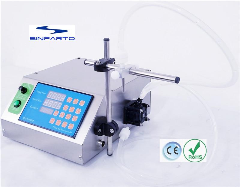 Sinparto GZL-80 essential oil perisatltic pump filling machine solvent filler CE ROHS perfume filler edible oil dosing machine