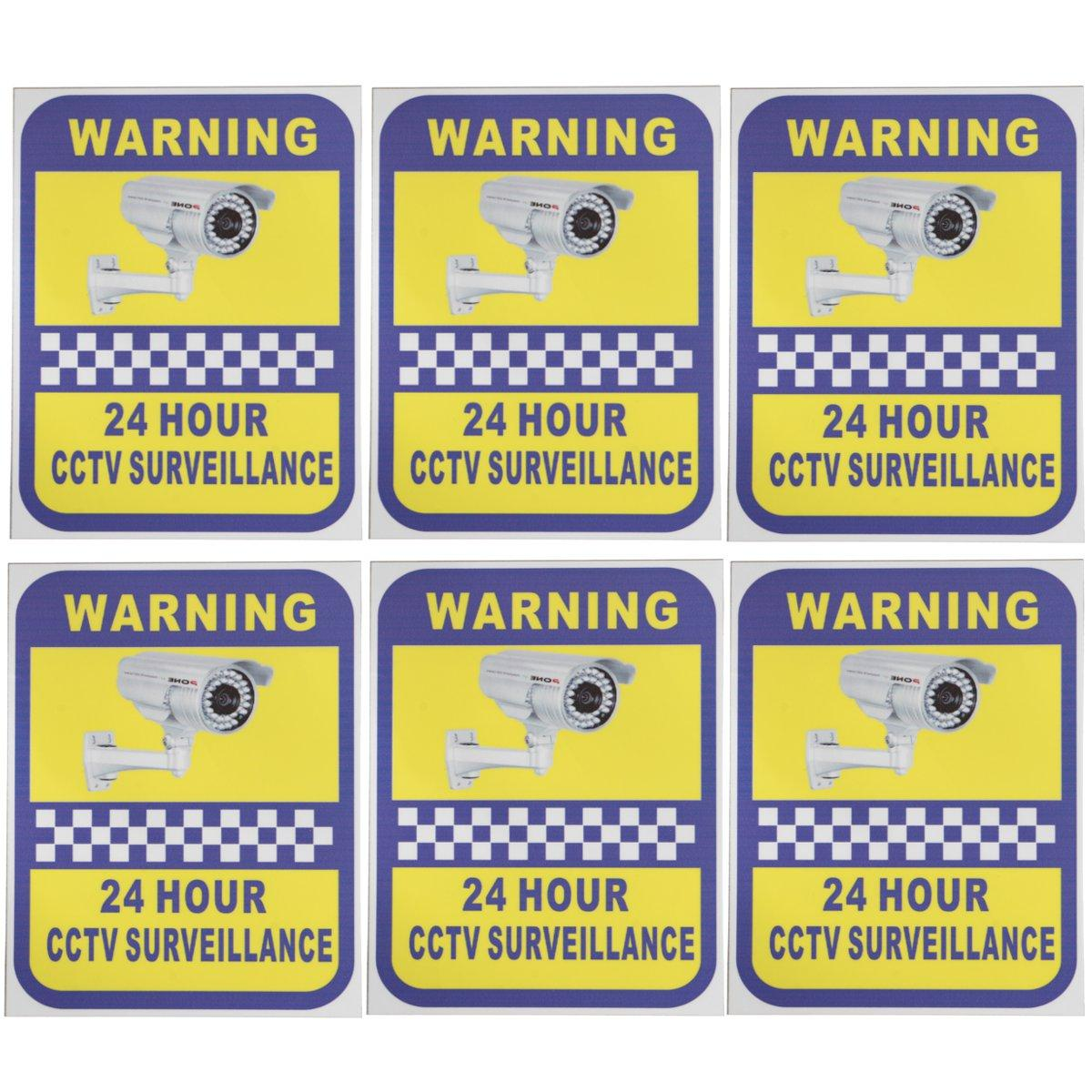 Safurance 6 Pack Home CCTV Surveillance Security Camera Video Sticker Warning Decal Signs Safety new safurance 10pcs lot waterproof sunscreen pvc home cctv video surveillance security camera alarm sticker warning decal signs