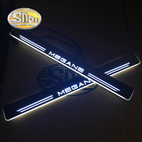 SNCN Waterproof Acrylic Auto LED Welcome Light Car Scuff Plate Pedal Thresholds Door Sill For Renault