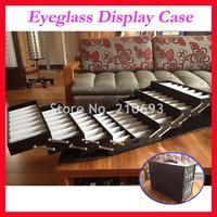 A64 Foldable Eyeglass Eyewear Optical Frame Sunglasses Suitcase Display case Hold 64pcs of glasses