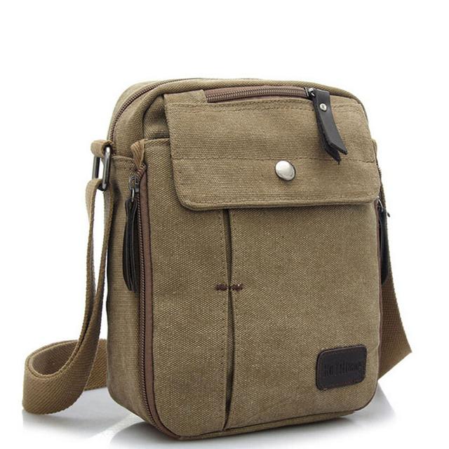 Multifunctional Canvas Messenger Shoulder Bag