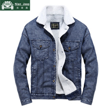 2018 Wool Liner Denim Jacket Men Winter Warm High Quality Mens Jackets