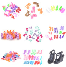 10Pairs Doll Shoes Fashion Cute Colorful shoes for Barbie Doll with Different styles High Quality Baby Toy